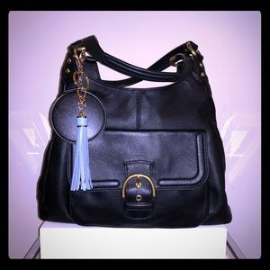 Coach Black Leather Campbell Bag F24686